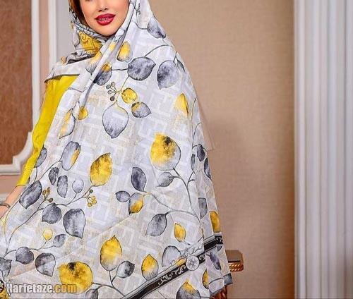 روسری خاکستری زرد ۱۴۰۰| جدیدترین انواع مدل های روسری خاکستری زرد ویژه ۱۴۰۰