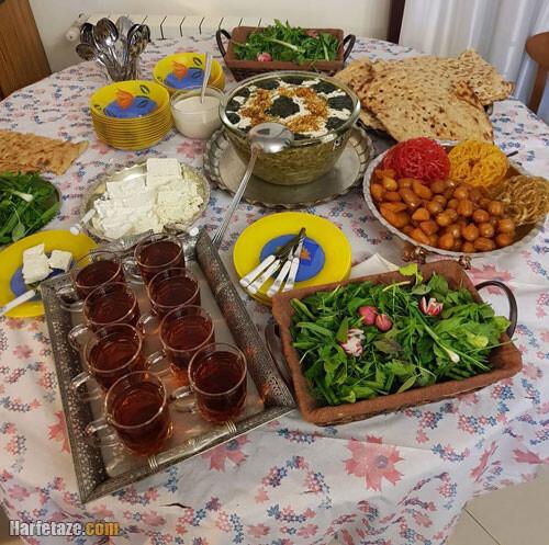 آلبوم عکس جدید سفره افطار برای مهمانی و مجلس