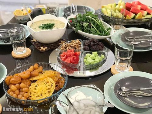 عکس از تزیین لاکچری میز افطاری