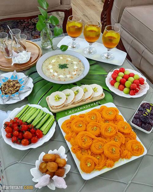 مدل تزیینات لاکچری میز افطاری