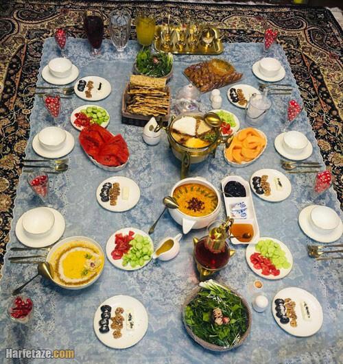 عکس سفره افطاری ساده ماه رمضان