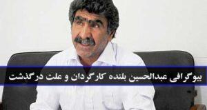 بیوگرافی و عکس های عبدالحسین بلنده کارگردان + علت فوت حسین بلنده