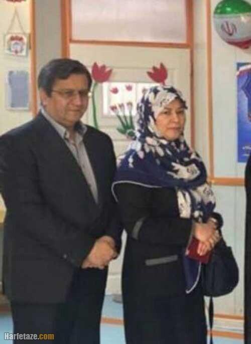 عبدالناصر همتی و همسرش