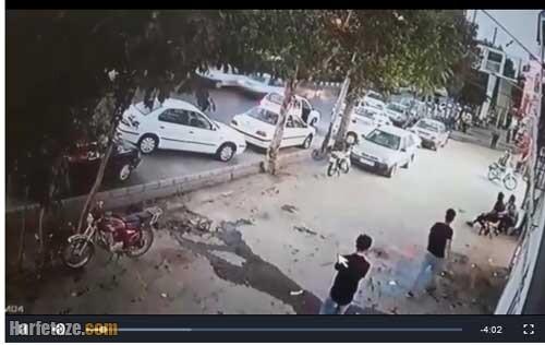 فیلم درگیری خونین در بلوار طبرسی مشهد و قتل اکبر شغال مشهد