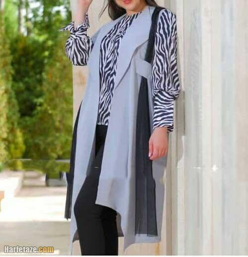 جدیدترین مدل های مانتو نخی و خنک سارافونی دخترانه برای تابستان 1400