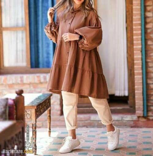 جدیدترین مدل مانتو تابستان دخترانه 1400