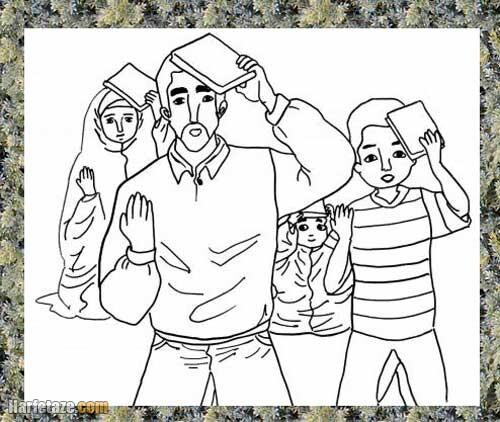 نقاشی شب قدر کودکانه, نقاشی در مورد شب قدر و قرآن سر گرفتن