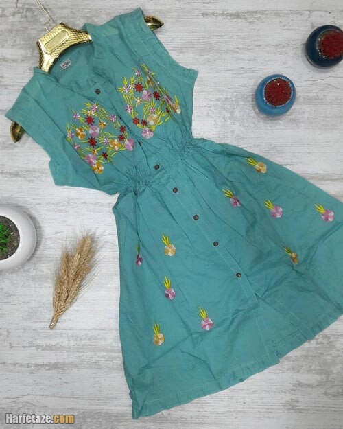 پیراهن کوتاه تابستانی زنانه 1400