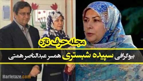 بیوگرافی و سوابق «سپیده شبستری» همسر عبدالناصر همتی + زندگینامه و ماجرای ازدواج
