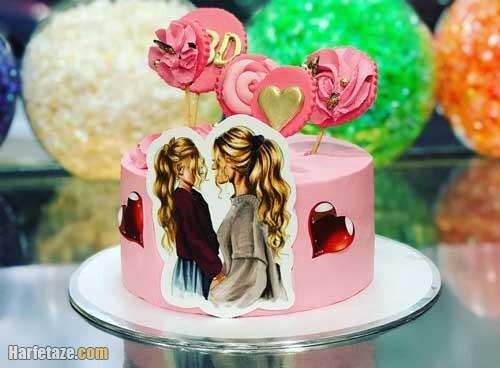 عکس کیک روز دختر فانتزی و مدل تاج