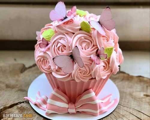 مدل مینی کیک روز دختر لاکچری و ساده