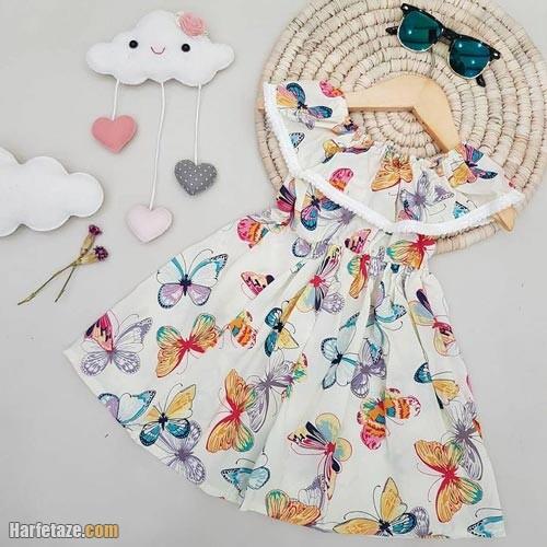 پیراهن تابستانه دخترانه 1400