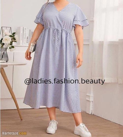پیراهن تابستانی سایز بزرگ زنانه 1400