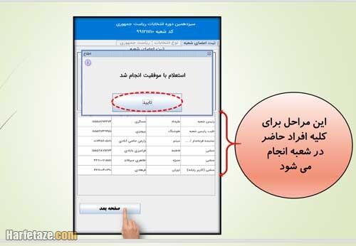 آموزش کار با دستگاه احراز هویت در رای الکترونیکی انتخابات 1400