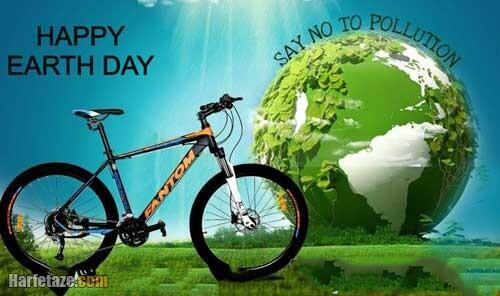 عکس نوشته های روز جهانی دوچرخه سواری به همسر و عشق دوچرخه سوارم
