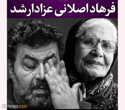 عکس مادر فرهاد اصلانی بازیگر