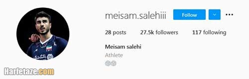 صفحه اینستاگرام میثم صالحی