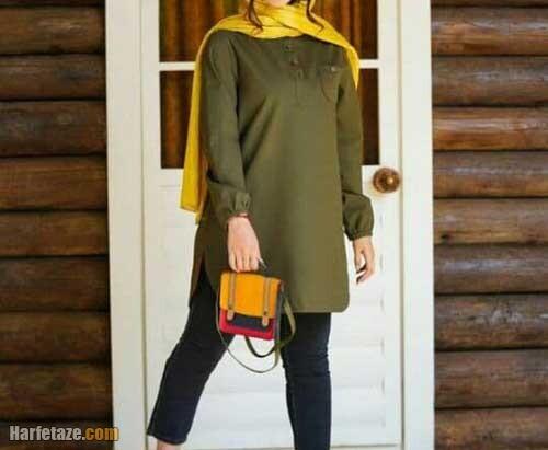 مدل مانتو جلوبسته دخترانه 1400
