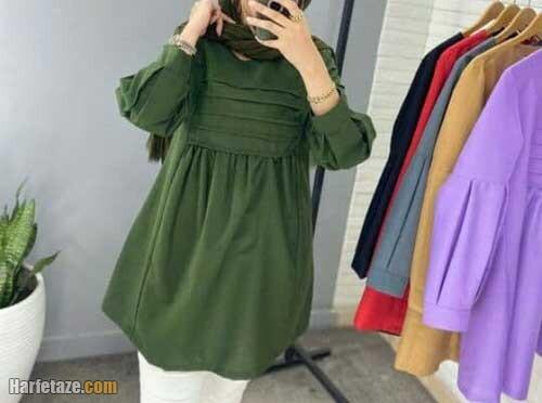 مدل جدید مانتوی جلوبسته با طرح ایرانی و سنتی