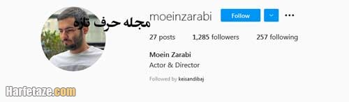 moein zarabi bazigar harfetaze com - معین ضرابی | بیوگرافی معین ضرابی بازیگر و کارگردان و همسرش+ خانواده و فیلم شناسی
