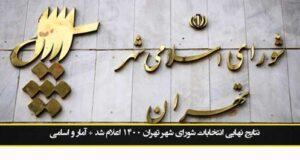 نتایج نهایی انتخابات شورای شهر تهران ۱۴۰۰