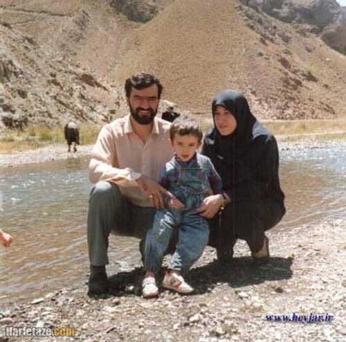 امیدوار رضایی و همسر و فرزندانش