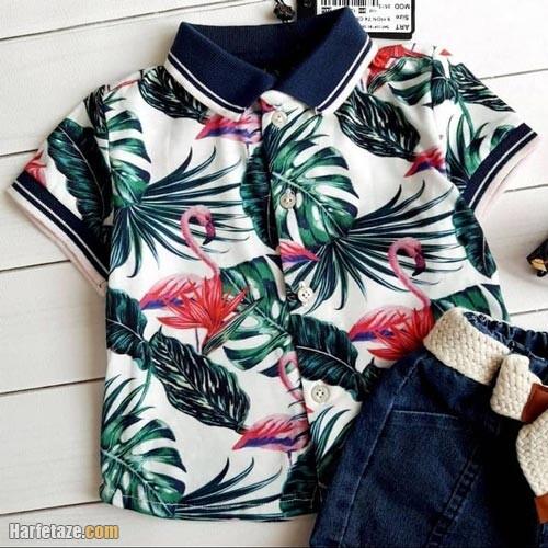 پیراهن هاوایی پسرانه 1400ر