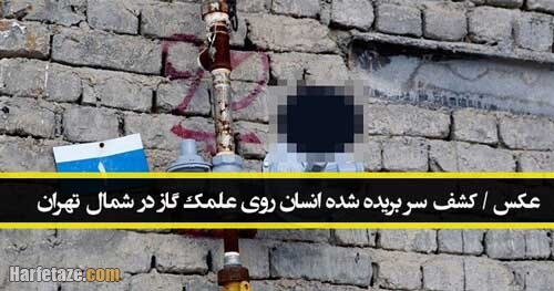 عکس / ماجرای کشف سر بریده شده انسان روی علمک گاز در شمال تهران، عکس سربریده شده