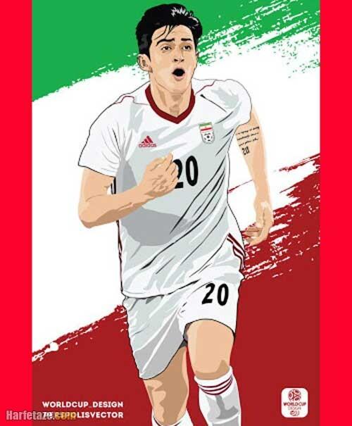 عکس نوشته تیم ملی فوتبال ایران در جام جهانی 2022 قطر