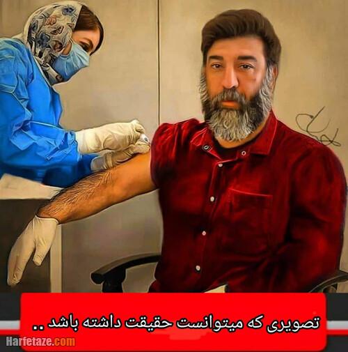 طراحی و نقاشی از مرحوم علی انصاریان در حال واکسن زدن