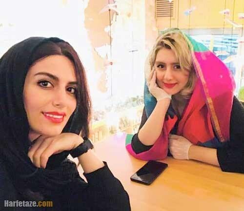 زهره ساداتی بازیگر و همسرش