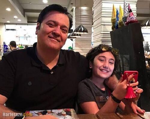 عکس ها و تصاویر بهزاد کاویانی و همسر و دخترش