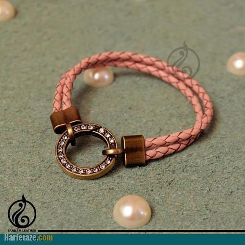 دستبند چرم دخترانه 1400