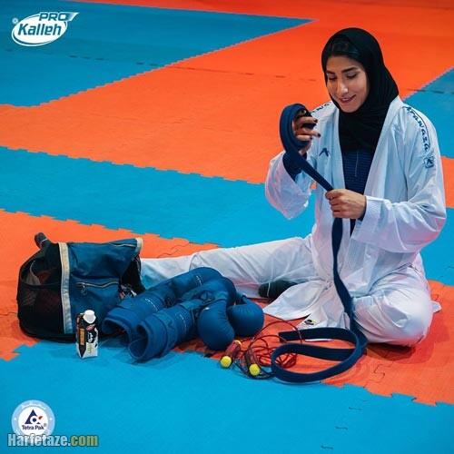 کاراته بازی حمیده عباسعلی