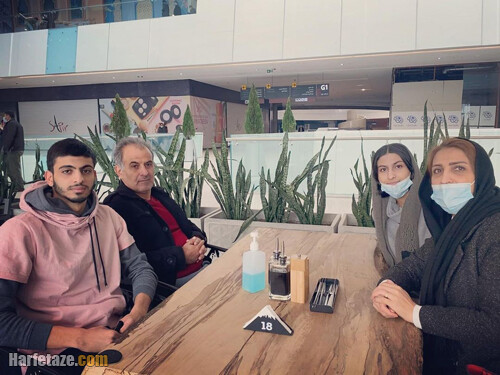 عکس خانوادگی و عکس پدر و مادر و خواهر متین بالسینی شناگر تیم ملی ایران