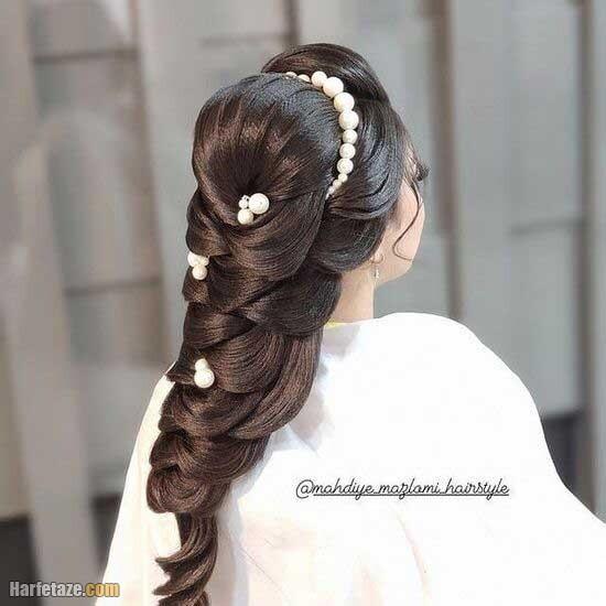 مدل شینیون برای خواهر عروس