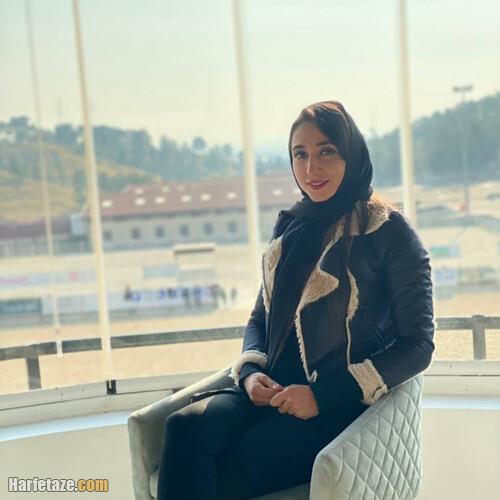 نازنین ملایی قایقران المپیکی ایران و همسرش