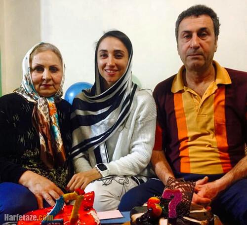 نازنین ملایی قهرمان قایقرانی آسیا و پدر و مادرش