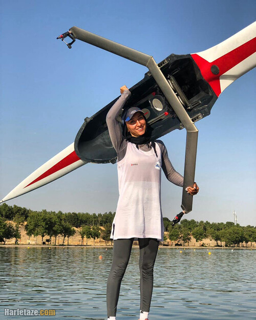 نازنین ملائی عضو تیم ملی قایقرانی زنان ایرا