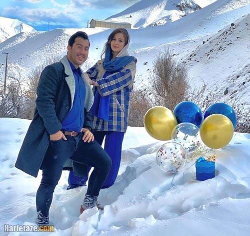 عکس جدید سجاد گنج زاده و همسرش