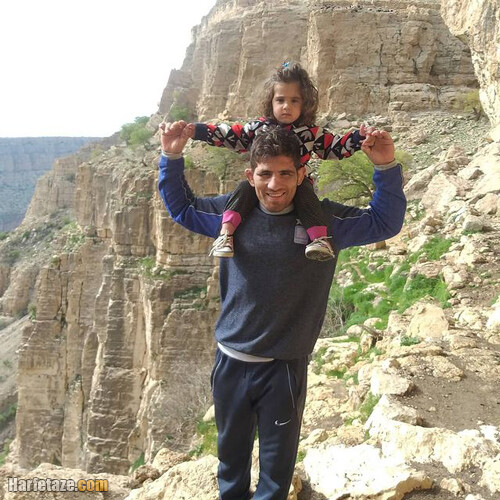 سامان عبدولی کشتی گیر و همسرش