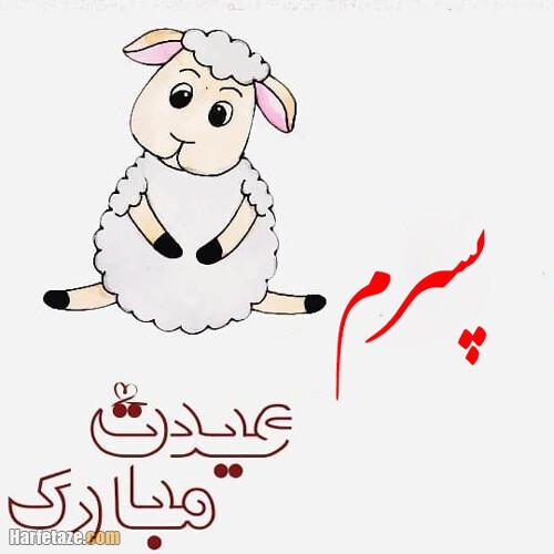 متن تبریک عید قربان به پسرم و عروسم با عکس نوشته زیبا + عکس پروفایل
