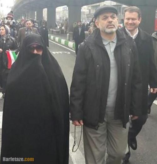 سردار احمد وحیدی و همسرش
