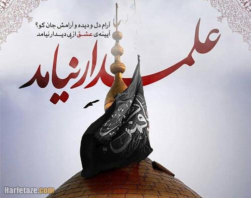 عکس نوشته علمدار نیامد برای روز تاسوعا