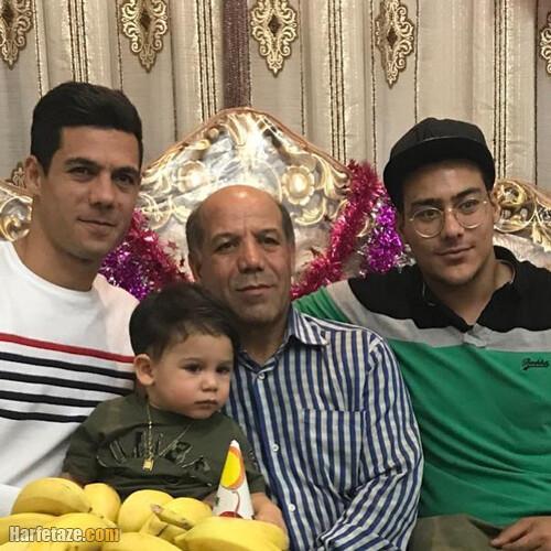 عکس خانواده و پدر و برادر ابراهیم شکوری