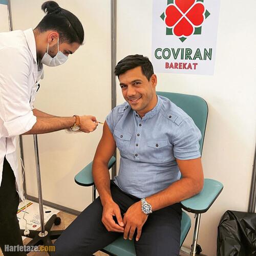 واکسن زدن ابراهیم شکوری
