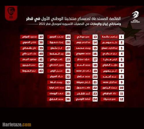 جدول و برنامه مرحله نهایی مقدماتی جام جهانی 2022 قطر
