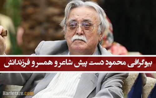 بیوگرافی محمود دست پیش شاعر اردبیلی و همسر و فرزندانش+ درگذشت، عکسها و اشعار