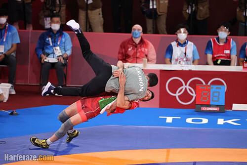 فیلم سالتوی محمدرضا گرایی به محمد بنا المپیک توکیو 2020