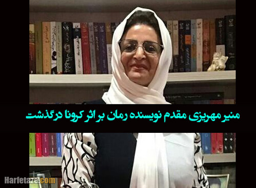 منیر مهریزی مقدم نویسنده رمان درگذشت + علت فوت